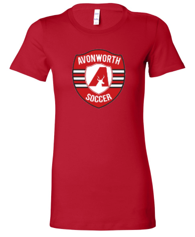 AVONWORTH SOCCER RINGSPUN SOFT COTTON LADIES FIT SHORT SLEEVE