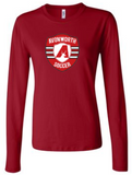 AVONWORTH SOCCER RINGSPUN SOFT COTTON LADIES FIT LONG SLEEVE