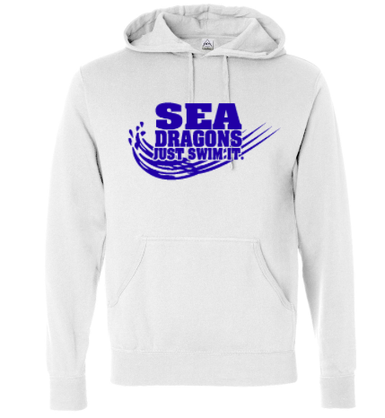 SEA DRAGONS SWIM TEAM COTTON BLEND HOODED SWEATSHIRT - JUST SWIM IT