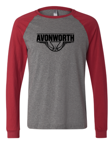 AVONWORTH BASKETBALL RINGSPUN COTTON THREE-QUARTER SLEEVE