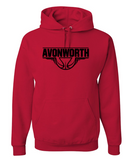 AVONWORTH BASKETBALL COTTON BLEND HOODED SWEATSHIRT