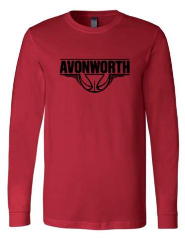 AVONWORTH BASKETBALL RED LONG SLEEVE