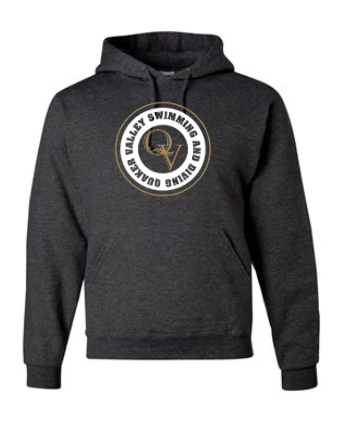 QUAKER VALLEY SWIMMING AND DIVING COTTON BLEND HOODED SWEATSHIRT