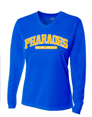 PHARAOHS HOCKEY LADIES FIT POLY-WICKING LONG SLEEVE - 2 COLOR INK
