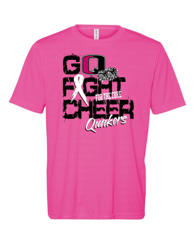 QV YOUTH CHEER PINK OUT SHORT SLEEVE