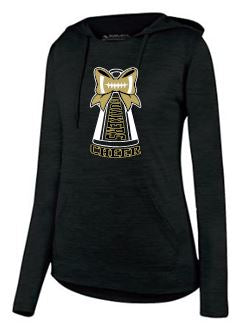 QV YOUTH CHEER - LADIES MOISTURE WICKING HOODED T-SHIRT