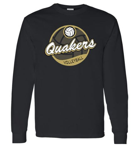 QUAKERS VOLLEYBALL LONG SLEEVE T-SHIRT