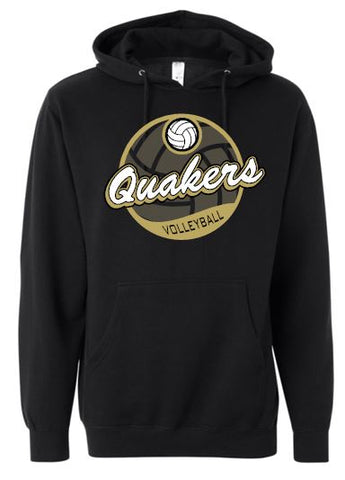 QUAKERS VOLLEYBALL HOODED SWEATSHIRT