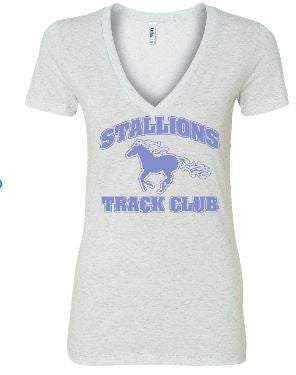 STALLIONS LADIES SPIRIT WEAR - V-NECK TRIBLEND