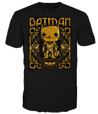DC Tees (DC) - Batman Gold Chrome