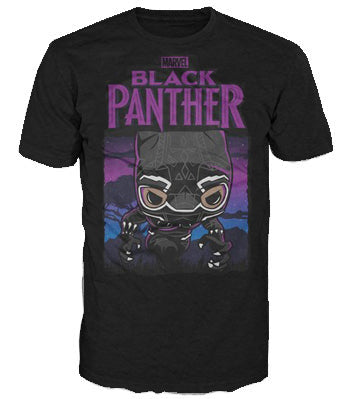 Pop Tees (Black Panther & POP) - Purple GITD Panther