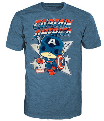 Pop Tees (Marvel) - Captain America Retro