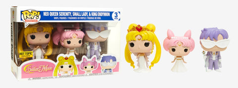 Sailor Moon - Neo Queen Serenity, Small Lady, & King Endymion - 3 Pack