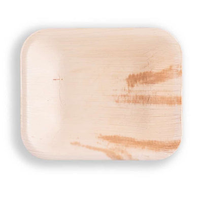 "6"" x 5"" Rectangle Deep Plates - 25 Pack - Naturally Chic"