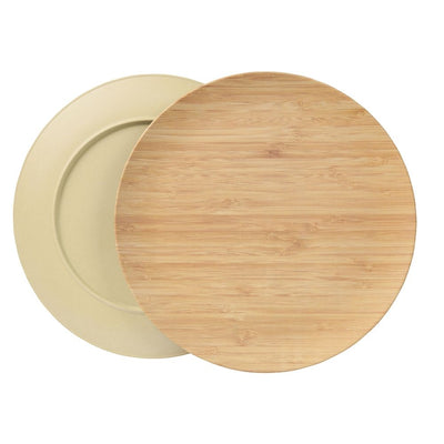 "10"" Round Plates - Green (4 Pack) - Naturally Chic"