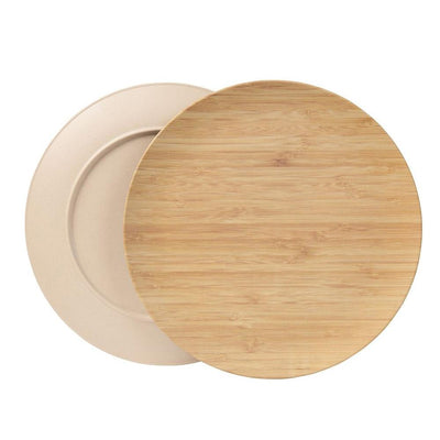 "10"" Round Plates - Ivory (4 Pack) - Naturally Chic"
