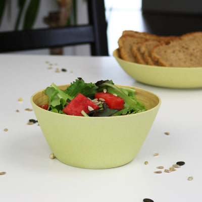 "5.75"" Round Salad Bowls - Green (4 Pack) - Naturally Chic"