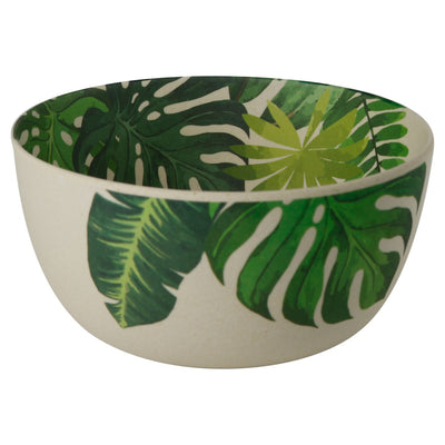 "5.5"" Round Bowls - Leaf Print (4 Pack) - Naturally Chic"