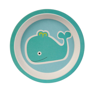 Kids Dinnerware Set - Whale (5 Pieces) - Naturally Chic