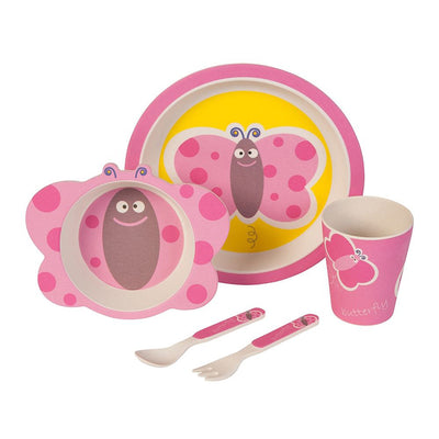 Kids Dinnerware Set - Butterfly (5 Pieces) - Naturally Chic