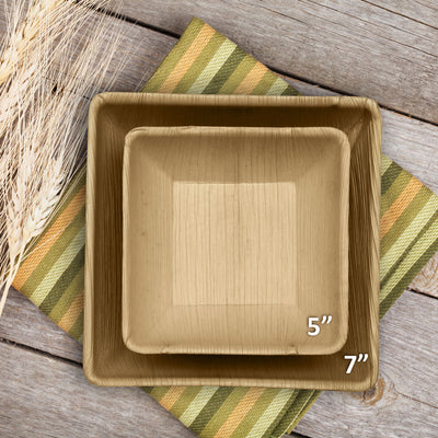 "7"" Square Bowls (20 oz) - 25 Pack - Naturally Chic"