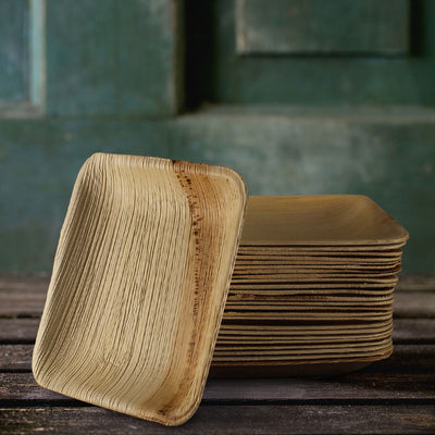 "6"" Square Plates - 25 Pack - Naturally Chic"