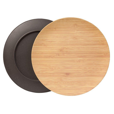 "10"" Round Plates - Taupe (4 Pack) - Naturally Chic"