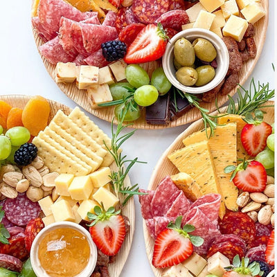 Naturally Chic Palm Leaf Charcuterie Boards