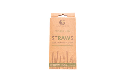 5.75'' Cocktail Raw Straws - 100 Per Pack - Naturally Chic