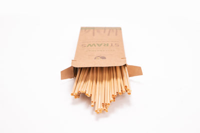 7.5'' Drinking Raw Straws - 100 Per Pack - Naturally Chic