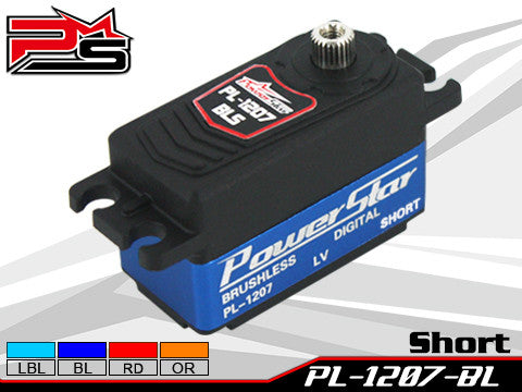 PowerStar Digital Servo Brushless motor BLUE PL1207BL