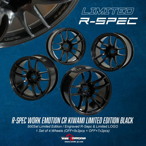 OD2616 R-Spec Work Emotion CR Kiwami Limited Edition Black