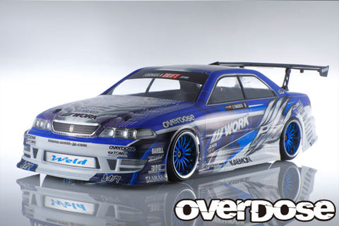 OD 2370 Toyota JZX 100 Mark Ⅱ Clear body & Weld WORK Machine graphic decal set