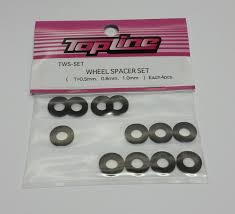 Topline Wheel Spacer Set (T=0.5mm, 0.8mm, 1.0mm)