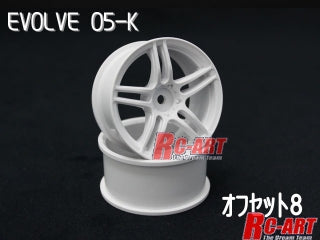 RC-Art EVOLVE 05-K OFFSET 8 WHITE