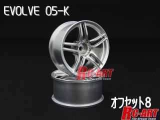 RC Art Evolve 05-K off set 8mm Matt Silver