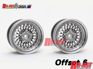 Rc-art SSR Formula Mesh 19 Wheel Matt Silver Offset 6mm