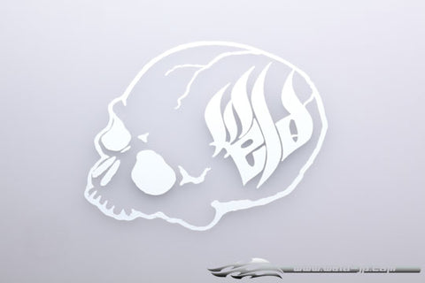 OD1850 WELD skull sticker / Plated Silver