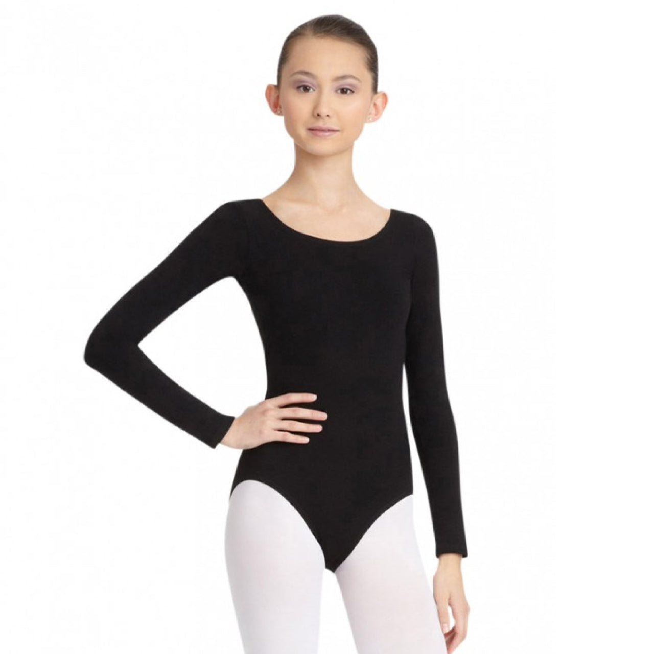 Capezio CC450C - Long Sleeve Leotard Cotton Child