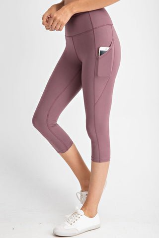 CAPRI YOGA PANTS WITH SIDE POCKETS