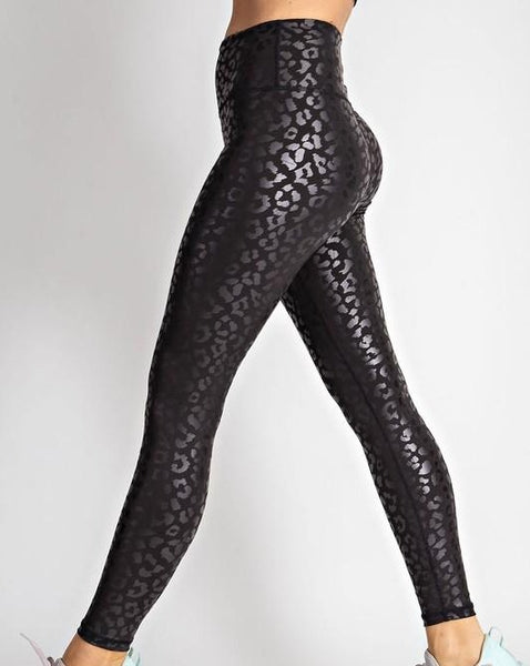 UNLEASHED LEOPARD TEXTURED LEGGING