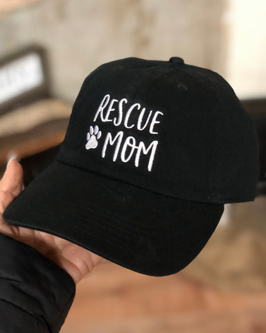 RESCUE MOM EMBROIDERED HAT