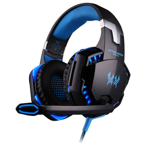 KOTION EACH - AUDÍFONOS DIADEMA GAMER AZUL