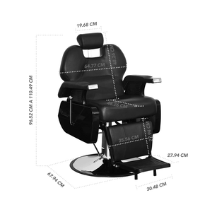 BARBER CHAIR - STAY ELIT - SILLA PARA BARBERÍA NEGRA