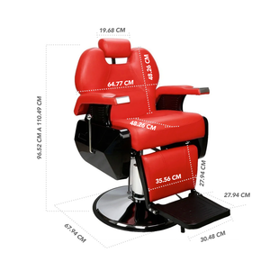 BARBER CHAIR - STAY ELIT - SILLA PARA BARBERÍA ROJA