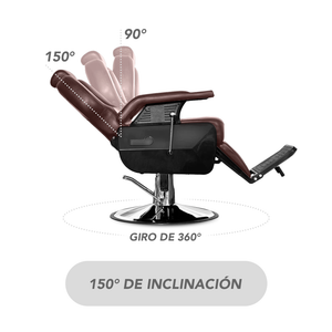 BARBER CHAIR - STAY ELIT - SILLA PARA BARBERÍA CAFÉ
