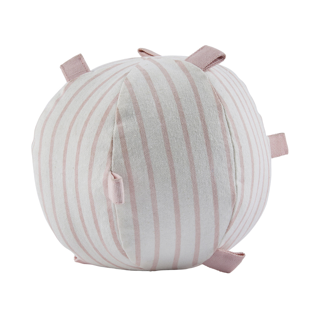 Pink Pinstriped Rattle Ball