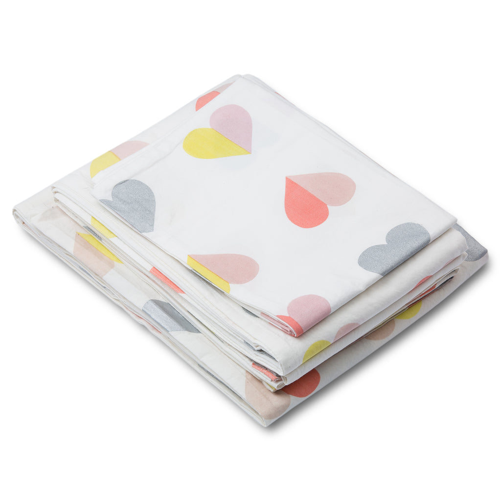 Hearts Twin Sheet Set