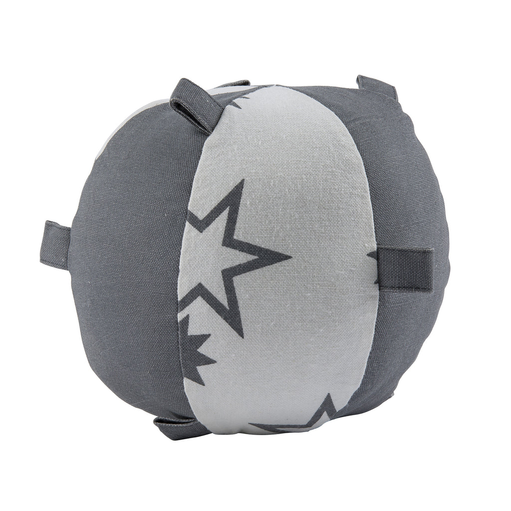 Gray Star Rattle Sensory Ball