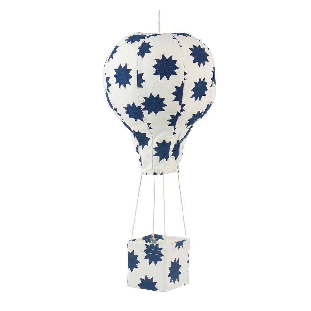 Lil' Pyar POW! Stars Hot Air Balloon Mobile, Navy